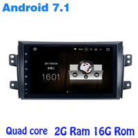 Quad core Android 7.1 car radio gps no DVD player for suzuki sx4 2006-2011 with 2G RAM wifi 4G USB RDS audio stereo bluetooth