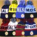 Top quality 12 teams football gift PSG football beanie Knit Men's Winter Hats Beanie Warm Knitted soccer PSG Hat for men women