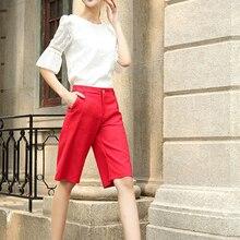 Top Quality fashion cotton summer wid leg women pants plus size sport straight high waist short