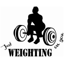 Gym Name Sticker Fitness Crossfit Barbell Decal Body-building Posters Vinyl Wall Decals Parede Decor Mural Gym Sticker