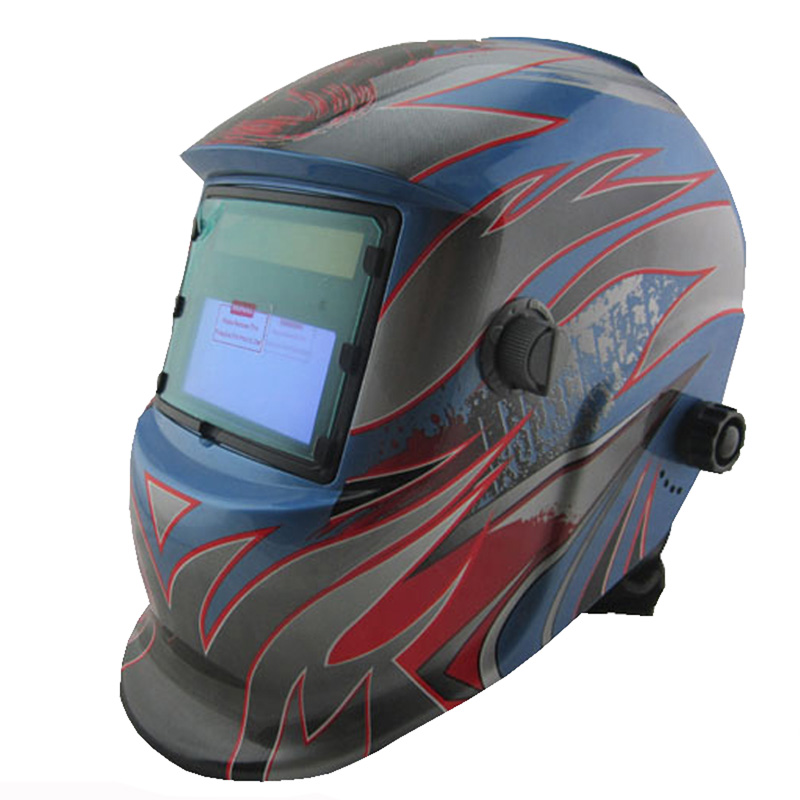 New Big view LI battery +Solar auto shading/darkening welding mask/helmet/filter with grinding function for MMA TIG MIG welder  rechangeable battery 4 arc sensor solar auto darkening shading grinding welding helmet welder goggles mask cap filter lens