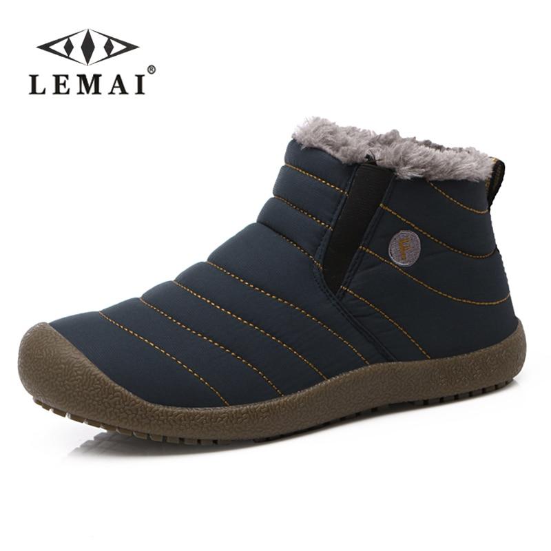LEMAI Men Winter Snow Shoes Man Boot Lightweight Ankle