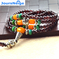 Natural A Garnet Bracelets for Women 4-5mm Beads Round Crystal 3-4 Circles Jade Bracelet  Jewelry Accessories