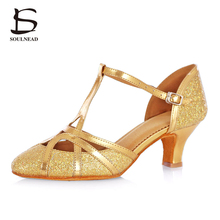 2017 New Style Adult Ladies Women Ballroom Latino Dance Shoes High Heeled Soft Sole Rumba Tango Salsa Professional Dancing Shoes