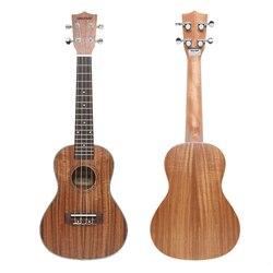 De haute qualité 23 pouce Hawaï Ukulélé soprano 4 Cordes 18 Frettes En Palissandre Acacia Koa matériel avec chevilles emballage guitare pièces jouets