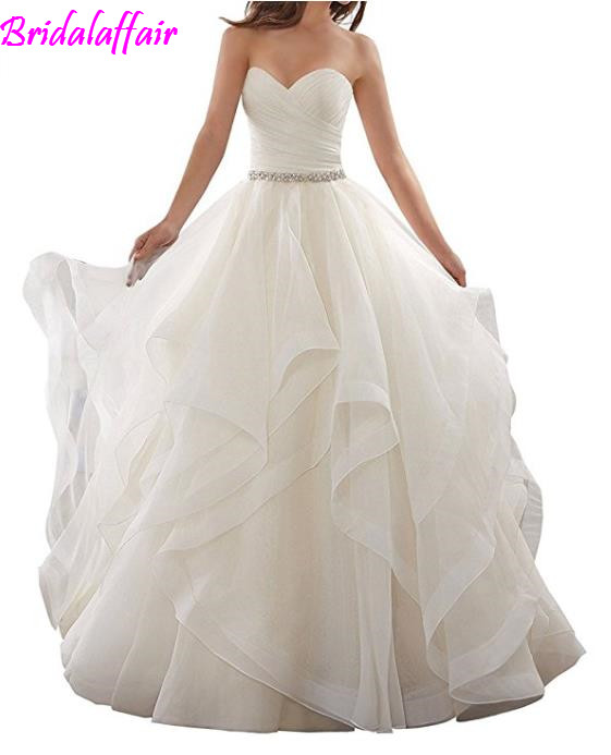 Real Price Women's Ball Gown Wedding Dresses Bride Dress