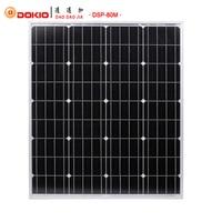 Dokio 80W Monocrystalline Silicon Solar Panel 18V 760x660x30MM Size Environmental Protection Panel Solar #DSP-80M