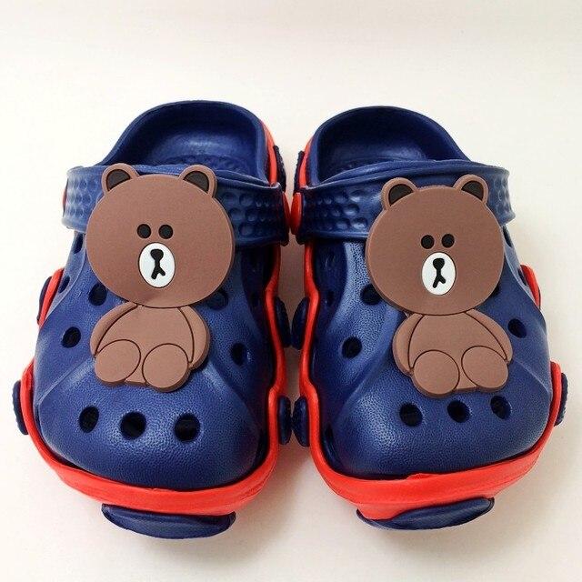 ad52d4a70c Kids Girls Slip On Garden Clogs Cartoon Brown Bear Cony Rabbit Children EVA  Sandals Mules Shoes