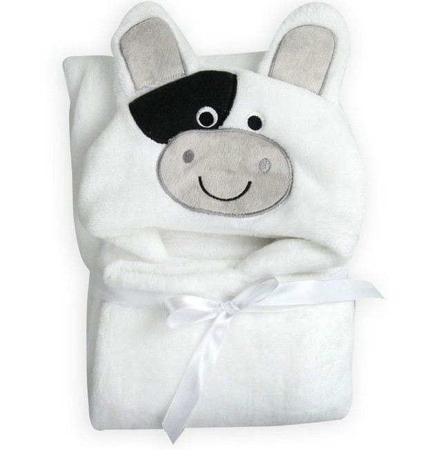 hoodie Flannel cloak children towel cartoon animal dog shaped white color baby cloak Cloak 96*76cm