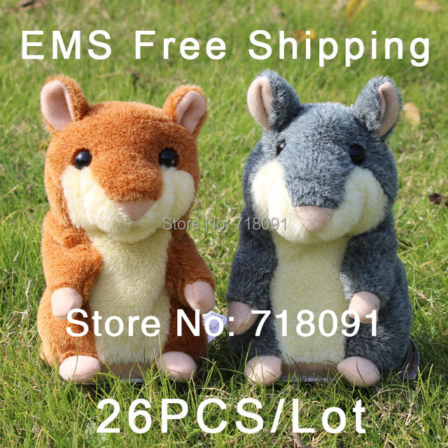 EMS Wholesale,Talking Electronic Toy Hamster for Kid's Gifts,15CM,26PCS/LOT