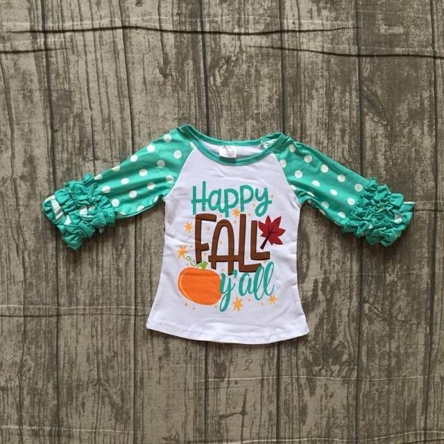 4cdb1860f baby girls Fall autumn cotton raglans girls happy Fall Y all pumpkin ...