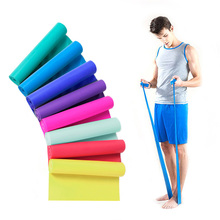 1PC 1.5m Elastic Yoga Pilates Rubber Stretch Resistance Exercises Fitness Band Resistance Bands Expanders