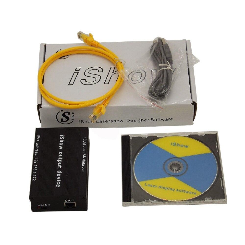 IShow V3.0 лазерное шоу программного обеспечения ILDA + RJ45 USB Интерфейс ishow для диско DJ dmx-бар этап лазерное шоу подобные как QUICKSHOW
