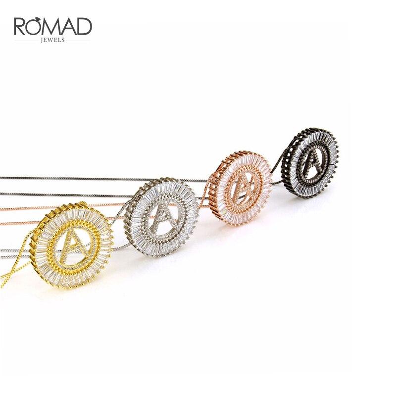 100% Wahr Romad A-z Initial Halskette Für Frauen Brief Halsketten Anhänger Zirkonia Halskette Hip Hop Schmuck Gold Name Collares R4 Guter Geschmack