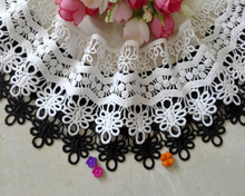 7cm Wide Hollow Delicate Flower Lace Handmade DIY Embroidery Clothing Accessories Skirt Water Soluble Edge Sewing Curtain Decor 7cm wide hollow delicate flower lace handmade diy embroidery clothing accessories skirt water soluble edge sewing curtain decor