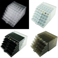 120 Grid Compartment Transparent Medicine Box Jewellery Packing Plastic Removable Box Nail Art Tool Storage Case