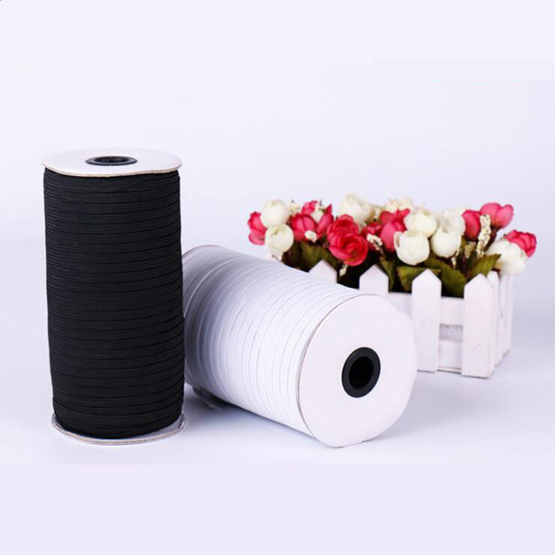 Elastic Bands 8mm 10mm 15mm Black White Nylon Cord Elastic Cords String Thread For Sewing Clothes Dress Textiles 5 Meters