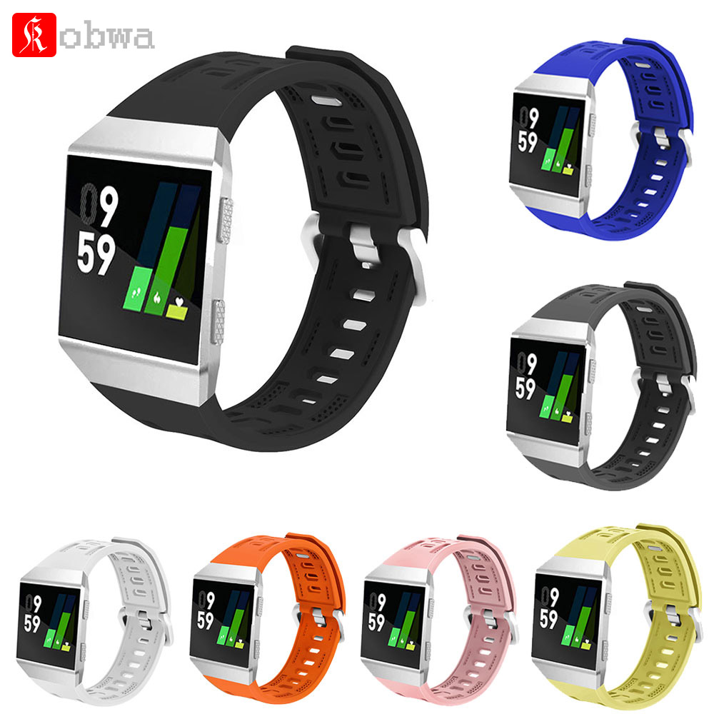 Kobwa TPU Silicone Replacement Wrist Strap For Fitbit Ionic Watchband Wrist Band Smart Watches Wearable Devices Accessories fitbit watch