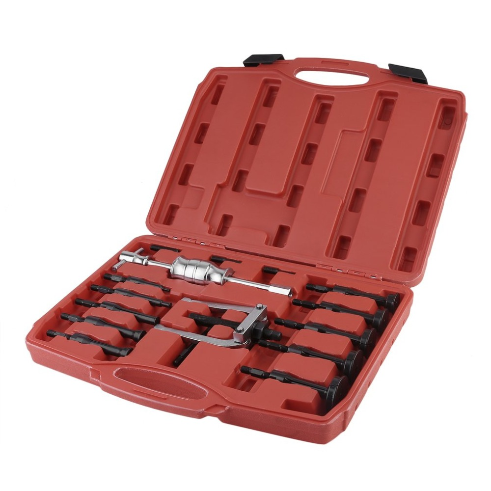 16PCS/SET Auto Bearing Extractor Set Inner Internal Blind Remover Bushes Puller Carbon Steel Blind Hole Bearing Puller Hand Tool 5 pc blind inner bearing puller set automotive vehicle service tools pt1149
