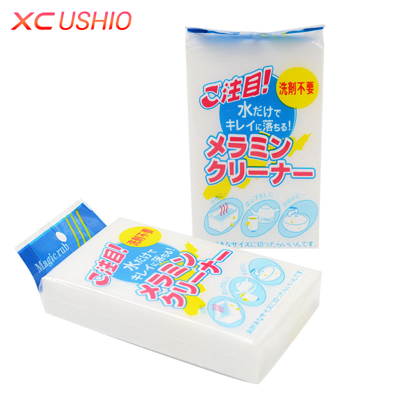 10 unids / lote 10x6x2cm Nano Esponja Magia Melamina de Limpieza Borrador de Esponja Solo Paquete Cocina Baño Borrador de Limpieza