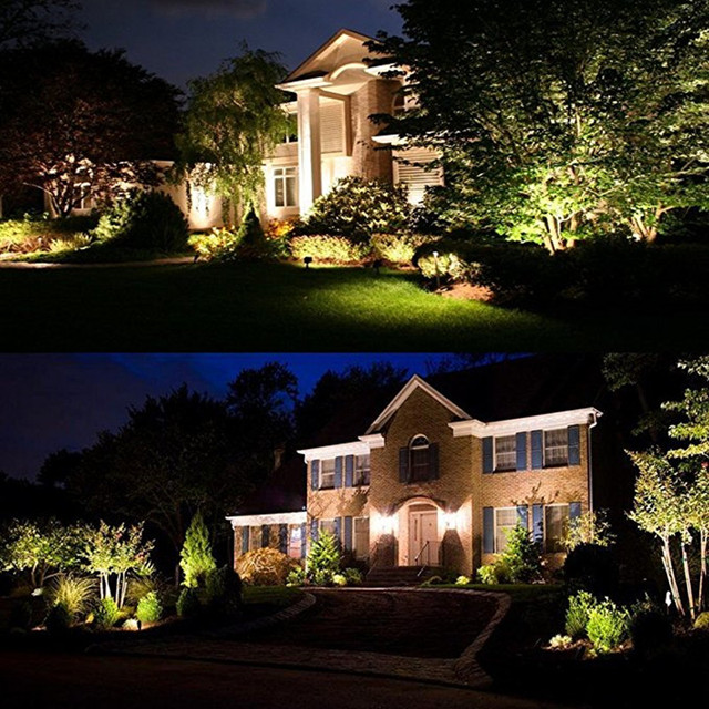 High power Outdoor Decorative Lamp Lighting 5W COB LED Landscape Garden Wall Yard Path Light Warm Cool White DC 12V with Spike