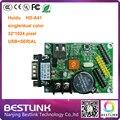 Huidu платы управления HD-S61 USB + ПОСЛЕДОВАТЕЛЬНЫЙ порт 32*1024 пикселей LED контроллер карты HD-A41led такси верхний светодиодный знак доска объявлений diy комплекты