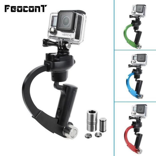 Mini estabilizador de cámara de mano, cardán Steadicam adecuado para GoPro Hero 7 6 5 SJcam SJ4000 Xiaomi Yi, Cámara de Acción