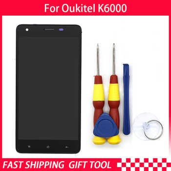 New original Touch Screen LCD Display For Oukitel K6000 Digitizer Assembly With Frame Replacement Parts+Disassemble Tool
