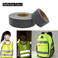 5cmx30m Safety Gray Reflex Fabric sew roupa ciclismo for Safety Free shipping