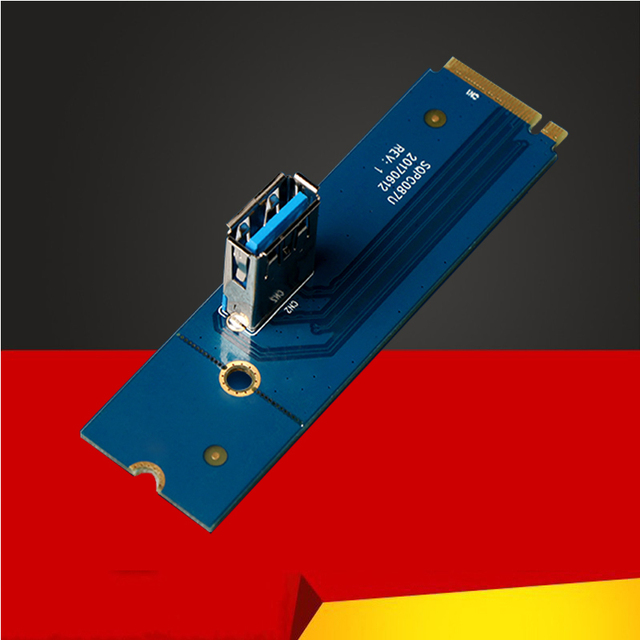 NGFF M.2 to PCI-E X16 Slot Adapter Riser Card for BTC ETH