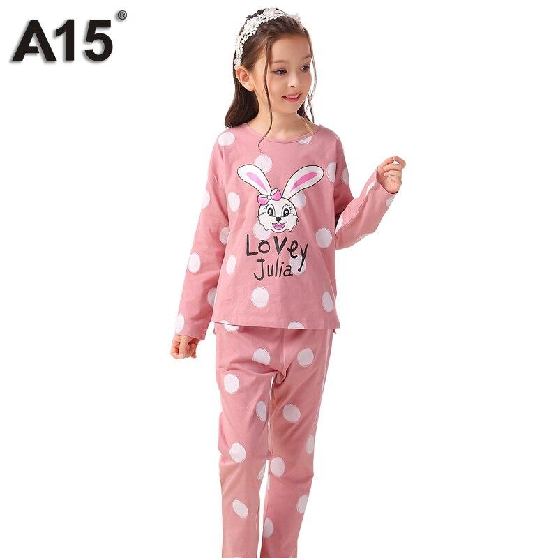 9a683c61fa86 Detail Feedback Questions about A15 Sleepwear Kids Pajamas Set Girls ...