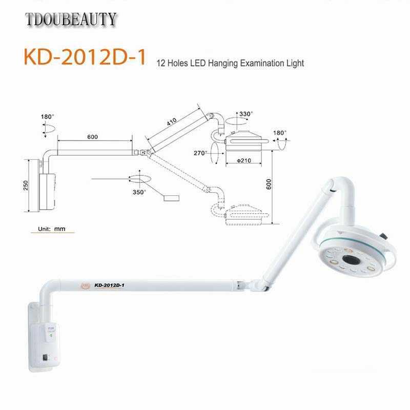 2020 新 TDOUBEAUTY 36 ワット Led 外科試験ライト無影灯 Kd ペット外科歯科部門 KD-2012D-1 送料無料