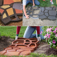 Fashion Hot New Garden Decorative Plastic Molded Paving Cement Concrete Pavement Paving Mold Mold Free Shipping