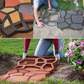 Moda caliente nuevo jardín decorativo de plástico moldeado de pavimentación pavimento de hormigón de cemento pavimentación molde molde