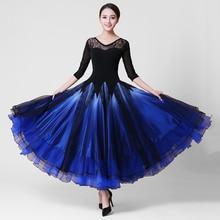Ballroom Competition Dance Dress Adult Tango Flamenco Waltz Dancing Skirt Women Multi Color Ballroom Dance Dresses
