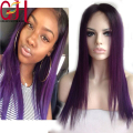 Ombre Lace Wig Silky Straight Two Tone 1B/Purple Human Hair Wig Lace Front Wig/Glueless Full Lace Brazilian Hair Wigs Baby Hair