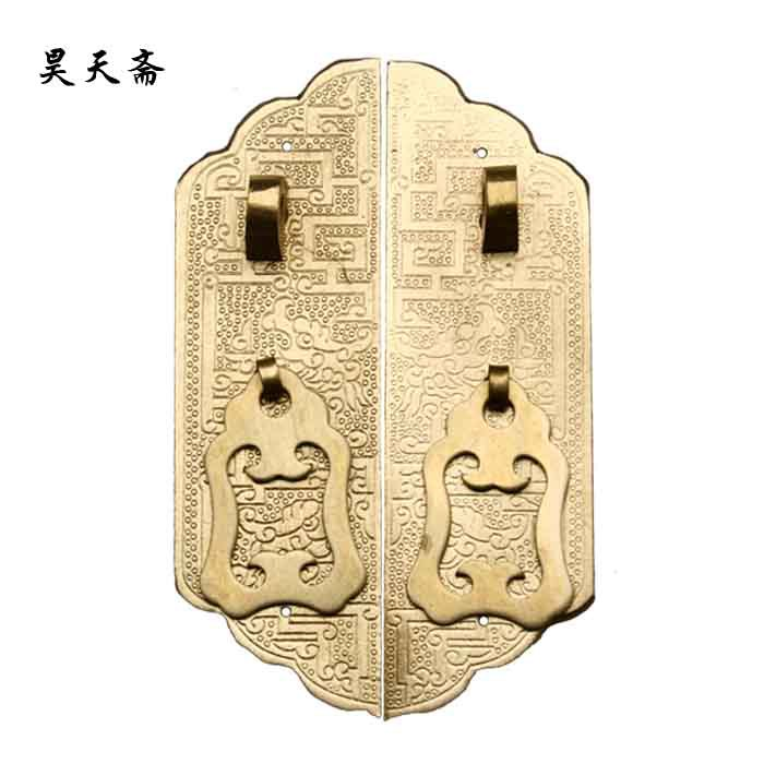 [Haotian vegetarian] copper straight handle / Ming and Qing antique furniture, brass fittings / Chinese Accessories HTC-077[Haotian vegetarian] copper straight handle / Ming and Qing antique furniture, brass fittings / Chinese Accessories HTC-077