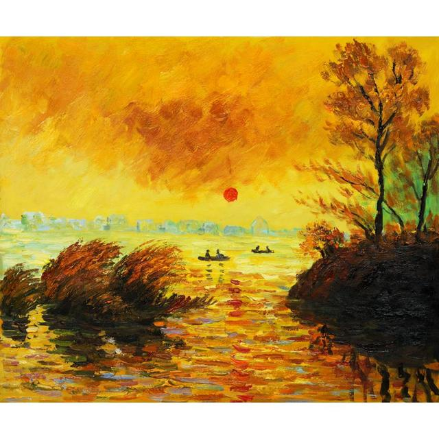 Le Coucher Du Soleil La Seine of Claude Monet art oil paintings ...