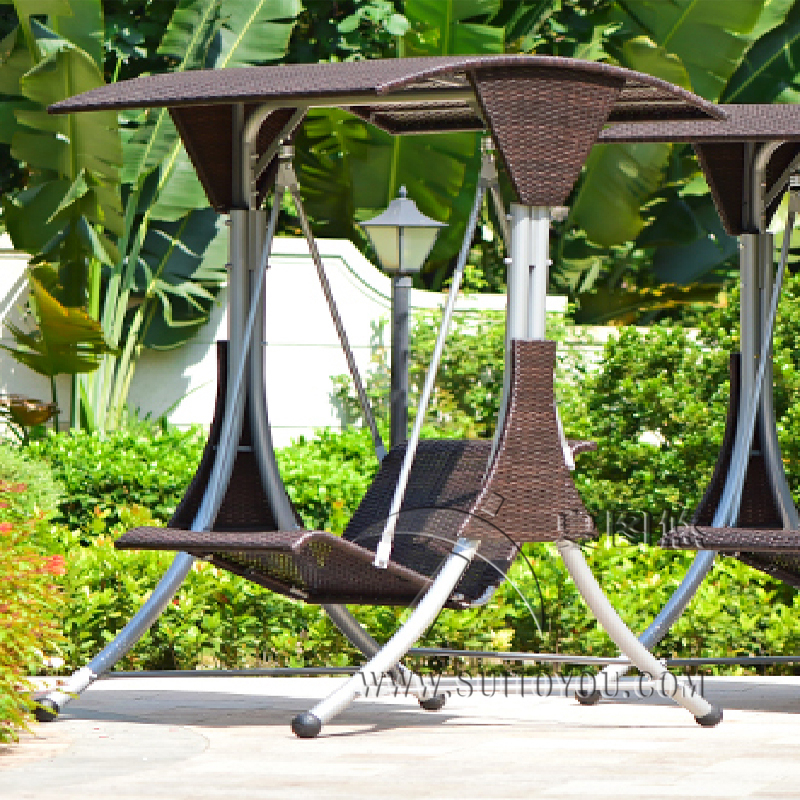 Single Person High Quality Wicker Garden Leisure Swing Chair Outdoor  Hammock Patio Leisure Cover Seat Bench