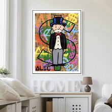 Alec Monopolyingly Dollar Sign Statue Canvas Posters Prints Wall Art Painting Decorative Picture Modern Decoration Accessories