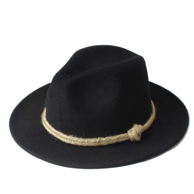 Nuevo verano VTG hombres mujeres chapeu feminino Sol sombrero para caballero  de lana BRIM Jazz Iglesia 227d4cb6a0cb