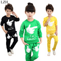 LZH Boys Clothes Sets 2017 New Spring Cotton Kids Girls Clothes T-Shirt+Pants 2pcs Outfit Children Clothing Sport Suit 4-10Year
