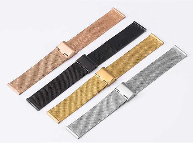 Wholesale 10PCS/lot Milanese Watchband 8mm 10mm 12mm 14mm 16mm 18mm 20mm 22mm 24mm Stainless Steel Watch Strap thickness 0.4mm 10pcs 57mm x 16mm straight bracket 201 stainless steel 1 8mm thickness mending repair plate connector flat bracket