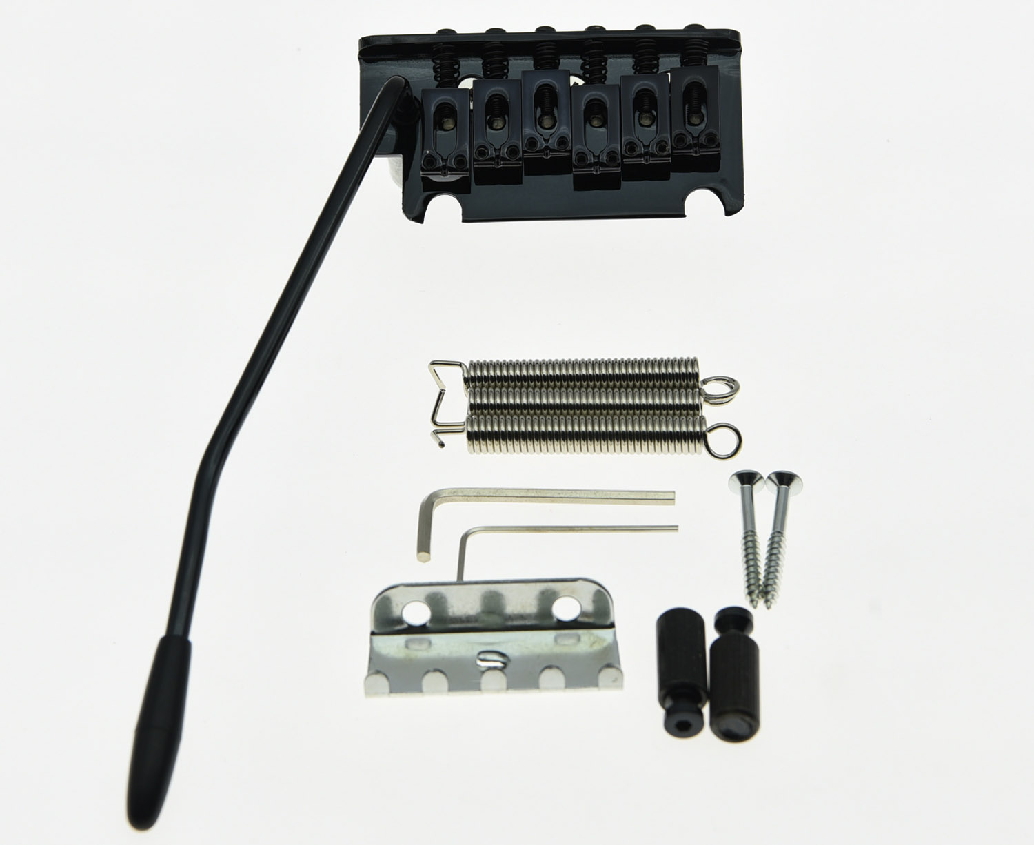 Black 2 Point Guitar Tremolo Bridge Locking System black bridge