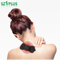 Rechargeable Mini TENS EMS Massager pain relief physiotherapy Butterfly Design neck lumbar calf full Body Muscle relax Massager