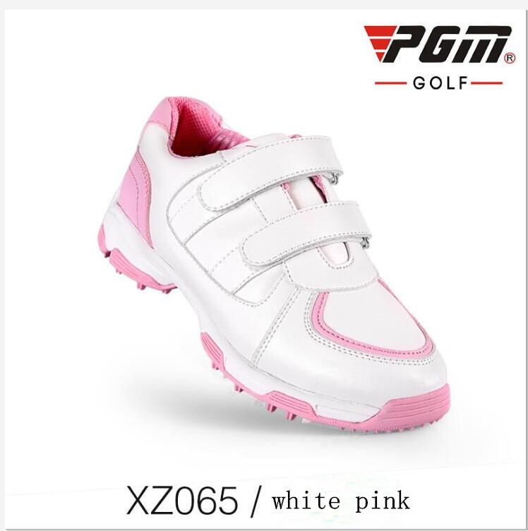 PGM Children's Golf Sneakers Boys and girls Waterproof 3D breathable slot anti-skid patent shoes Outdoor Breathable Golf Shoes glowing sneakers usb charging shoes lights up colorful led kids luminous sneakers glowing sneakers black led shoes for boys