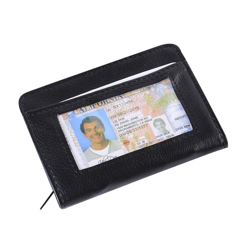 Fashion Small Unisex Rfid Wallet Men And Women Wallet Zipper Credit Card Holder Photo Pocket Flap Multifunction Purse