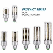 цены LED Lamp E27 LED Bulb Corn E14 Light Bulb 220V Bombillas 5W 7W 9W 12W 15W 20W 25W Lampada LED Lights 110V Indoor Lamp No Flicker