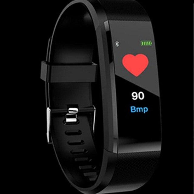 ID115 PLUS Color Screen Smart Bracelet Sports Pedometer Watch Fitness Running Walking Tracker Heart Rate Pedometer Smart Band 1