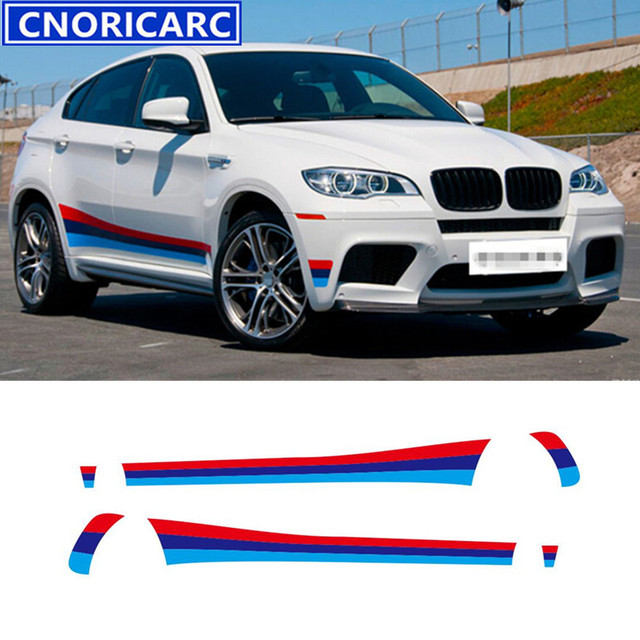Bmw Xdrive35i Price: CNORICARC For M Sport Styling Door Side Skirts Decal Waist